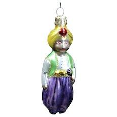 "Vintage Radko 1995 ""Chic of Araby"" Man Boy Hand-Painted Glass Christmas Ornament"