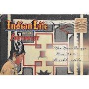 Vintage Indian Life In The Southwest Accordion Postcard Booklet Hopi Pueblo