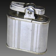 Vintage Ronson Whirlwind Refillable Monagram Stainless Steel Lighter