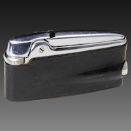 Vintage Ronson Varaflame Adonis Stainless Steel & Black Refillable Lighter