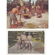 Vintage Postcard Lot of 4 Panama Indian Peking China Japan Shrine