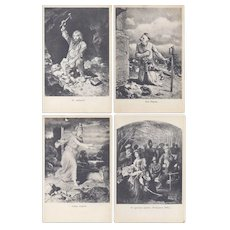 Vintage Antique Postcard Lot of 5 Poland Polish Lithograph Imagery Early 1900s