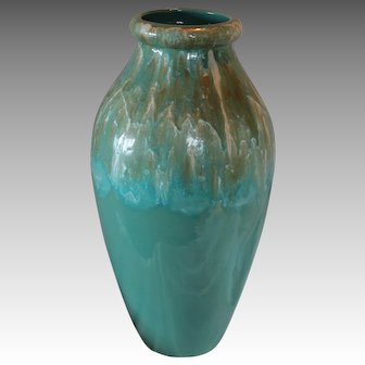 "Massive 22"" Robinson Ransbottom Floor Vase,  Roseville Ohio"