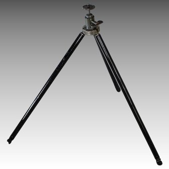 "Vintage Camera Tripod, Brass & Aluminum, Germany & USA, 1920's -30""s"