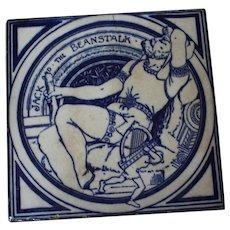 Minton Jack and the Beanstalk Fairy Tile, England 1873 - 74