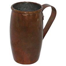Arts & Crafts era Hand Hammered Copper Mug,  J.V. Goth, 1900
