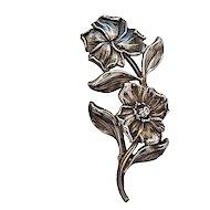 Art Nouveau Sterling Silver William Kerr Floral Pin