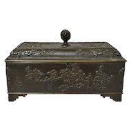 French Chinoiserie Style Bronze Box 19th Century