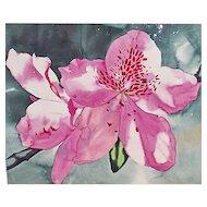 """William Garbe """"Blossom"""" Watercolor 1978"""