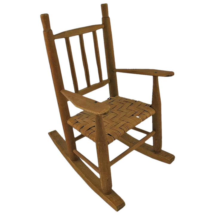 Pleasant Vintage Wooden Dolls Rocking Chair Ncnpc Chair Design For Home Ncnpcorg