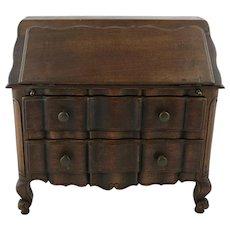 Miniature Vintage Louis XV Style Walnut Desk