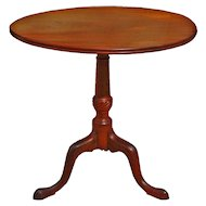 English Georgian Mahogany Tilt Top Table