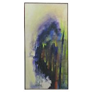 Abstract Painting Oil On Canvas Signed Scheibel