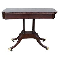 New York Classical Mahogany Card Table C 1820