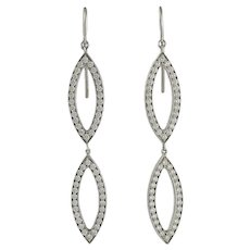 18K White Gold Diamond Earrings by Hami