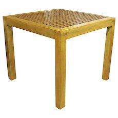 Mid Century Lattice Top Parsons Table