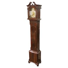 English Georgian Tall Case Grandmother Clock 19th Century