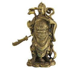 Ming Style Vintage Bronze Chinese Warrior Figure