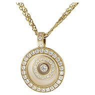 Chopard Happy Spirit Floating Diamond Pendant Necklace