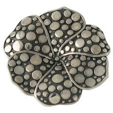 John Hardy Large Flower Sterling Silver Dot Ring