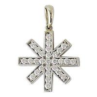Ron Hami 18K White Gold and Diamond Snowflake Pendant