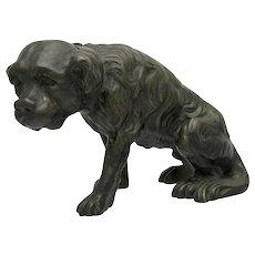 Nineteenth Century Bronze Dog Sculpture