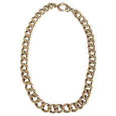 14K Gold Unisex Curb Link Chain Bracelet