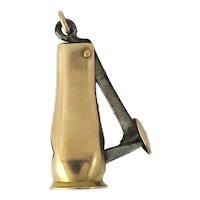 Victorian 14K Rose Gold Cigar Cutter Pendant / Fob