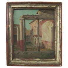 """Anna Brewster After Onorato Carlandi """" Capriccio """" Oil On Canvas Italian 19th Century"""