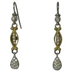 18K Yellow & White Gold Diamond Eli Jewels Earrings
