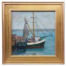 "Emile Gruppe "" Fish Hawk New York "" Oil On Board"