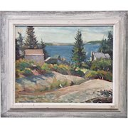 "Frank Spradling ""Hill Top"" Spruce Head Maine Oil On Canvas"