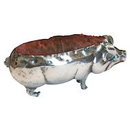 Birmingham English Sterling Pig Pin Cushion 1883