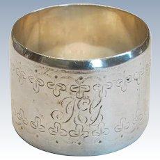 Heavy Sheffield England Sterling Napkin Ring 1860