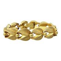 Vintage 18K Gold Articulated Link 50s Bracelet