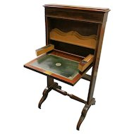 English Nineteenth Mahogany Small Folding Desk