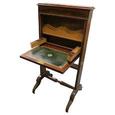 English Nineteenth Mahogany Small Folding Desk