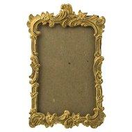 Victorian Rococo Revival Gilt Brass Picture Frame