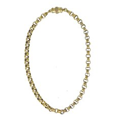 Victorian 14K Gold Large Link Chain Necklace