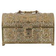 Antique Bronze Art Nouveau Jewelry Treasure Box