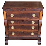 American Mahogany Classical Child's Chest Of Drawers