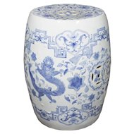 Chinese blue And White Porcelain Garden Seat