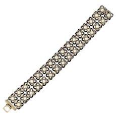 David Andersen Norway Sterling Enamel Link Bracelet