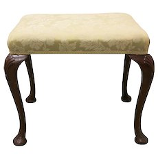 Queen Anne Style Upholstered Stool
