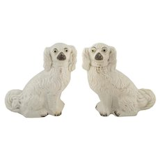 Pair of English Staffordshire Spaniel Dogs 19th C.