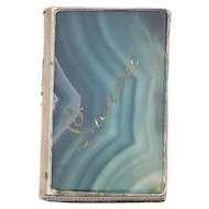 "Silver Plate & Agate Victorian Matchbox ""Lucerne"""