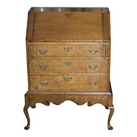 American Tiger Maple Queen Anne Child's Desk