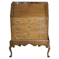 American Tiger Maple Queen Anne Child's Desk