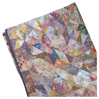 Patchwork Silk Quilt With Asian Influence Early 20th Century
