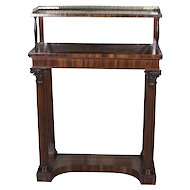 English Rosewood William IV Side Cabinet With Gallery